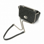 กระเป๋าแบรนด์เนม PISIDIA รุ่น EXQUISITE DIAMOND-QUILTED HANDBAG สีดำ (ส่งฟรี EMS)