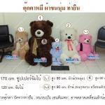 10.ตุ๊กตา หมีท่ายืน ผ้าขนนุ่ม