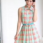 Sweet Grid Dress (pink)