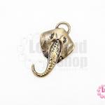 จี้ทองเหลือง หน้าช้าง 24X42 มิล (1ชิ้น)