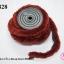 พู่ไหมพรม หางกระรอก สีน้ำตาลแดง กว้าง 4ซ.ม(1หลา/90ซ.ม) thumbnail 1