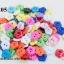 กระดุมพลาสติก ดอกไม้ คละสี 12มิล (1ขีด/100กรัม) thumbnail 1
