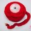 พู่ไหมพรม หางกระรอก สีแดงสด กว้าง 4ซ.ม(1หลา/90ซ.ม) thumbnail 1