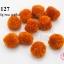 ปอมปอมไหมพรม สีน้ำตาลอิฐ 3ซ.ม (10ชิ้น) thumbnail 1
