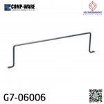 """19"""" Germany Rack Accessories G7-06006 CABLE BACK SUPPORT BAR (แกนเหล็กจัดสายหลัง PATCH PANEL)"""