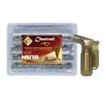 Arab Charcoal Burner ถ่านพิเศษ ถ่านชาโคล สำหรับจุดไฟเผา ไม้กฤษณา ไม้จันทน์ กำยาน มดยอบ ยางไม้หอมทุกชนิด ทำจากธรรมชาติ 100% +ไฟแช็คไอพ่น ไฟฟู่ คุณภาพสูง ให้ไฟเสถียร สม่ำเสมอ ปรับระดับได้ วัสดุเหล็ก สีทอง รูปทรงสวยหรู นำสมัย เติมแก๊สได้ พร้อมใช้