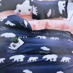 ชุดผ้าปูที่นอนลายการ์ตูนสัตว์น่ารัก ขนาด 6 ฟุต, 5 ฟุต, 3.5 ฟุต