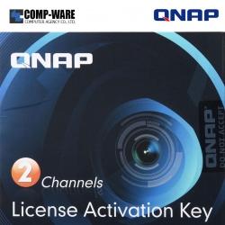 QNAP LIC-CAM-NAS-2CH 2 Camera License Activation Key for Surveillance Station Pro for QNAP NAS