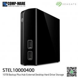 "Seagate External HDD 10TB STEL10000400 BACKUP PLUS HUB DESKTOP (BLACK) 3.5"" ประกัน 3ปี"