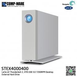 Seagate LaCie 4TB d2 Thunderbolt 2 & USB3.0 External Hard Drive - STEX4000400