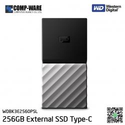 WD 256GB MY PASSPORT SSD Portable Storage - USB 3.1 (Type-C) - Black-Gray - WDBK3E2560PSL