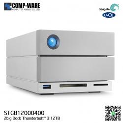 Seagate LaCie 2Big Dock RAID Thunderbolt 3 12TB 7200RPM External Hard Drive STGB12000400