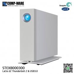 Seagate LaCie 8TB d2 Thunderbolt2 USB3.0 External Hard Drive [STEX8000300]