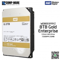 WD Gold 8TB Enterprise Class Hard Drive 7200RPM SATA 6Gb/s 256MB Cache 3.5Inch - WD8003FRYZ