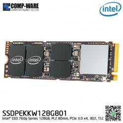 Intel SSD 760p Series (128GB, M.2 80mm PCIe 3.0 x4, 3D2, TLC) - SSDPEKKW128G801