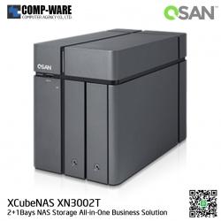 QSAN (2+1 Bays) XCubeNAS XN3002T (4GB RAM) Tower NAS Storage , No HDD