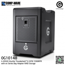 G-Technology G-SPEED Shuttle Thunderbolt™3 24TB 7200RPM with ev Series Bay Adapter RAID Storage - 0G10148
