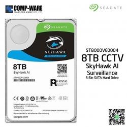 Seagate 8TB SkyHawk AI Surveillance SATA 6Gb/s 7200RPM 256MB Cache 3.5in Internal Drive - ST8000VE0004 (Free Rescue 2 Yrs)
