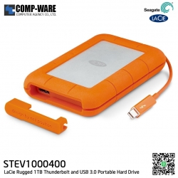 Seagate LaCie 1TB Rugged 1TB Thunderbolt and USB 3.0 Portable Hard Drive - STEV1000400