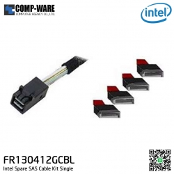 Intel SAS Cable Kit FR130412GCBL - (2) 555mm cables from 7pin SATA to miniSAS HD Accessories
