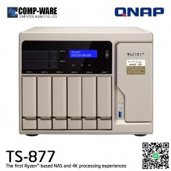 QNAP NAS 8-Bay (6+2) TS-877 (8GB DDR4 RAM) AMD Ryzen5 1600 6C/12T