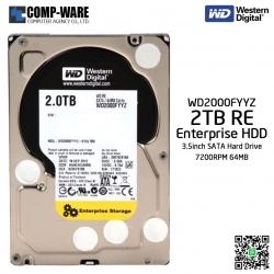 WD RE 2TB Enterprise Class Hard Drive 7200RPM SATA 6Gb/s 64MB Cache 3.5Inch - WD2000FYYZ