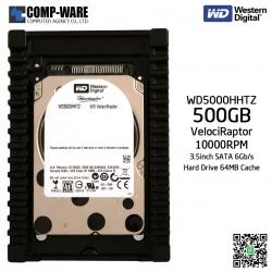 WD VelociRaptor 500GB 10000RPM SATA 6Gb/s 64MB Cache 3.5Inch - WD5000HHTZ