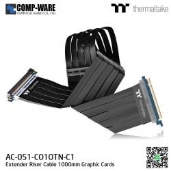 Thermaltake AC-051-CO1OTN-C1 TT Premium PCI-E x16 3.0 Extender Riser Cable 1000mm Graphic Cards Black