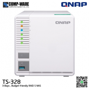 QNAP NAS (3-Bay) TS-328 (2GB DDR4 RAM)