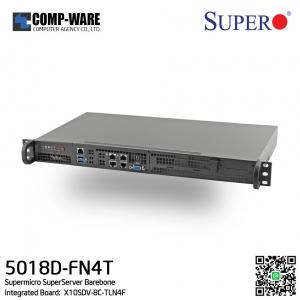 Supermicro SuperServer 5018D-FN4T Barebone Xeon D-1541 8-Core Front IO Mini 1U Rackmount w/ Dual 10GbE