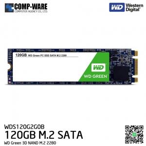 WD Green 3D NAND 120GB M.2 2280 SATA 6Gb/s Solid State Drive - WDS120G2G0B