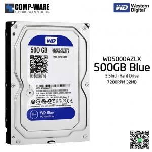 WD Blue 500GB Desktop Hard Disk Drive SATA 6 Gb/s 7200RPM 32MB Cache 3.5Inch - WD5000AZLX