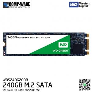 WD Green 3D NAND 240GB M.2 2280 SATA 6Gb/s Solid State Drive - WDS240G2G0B