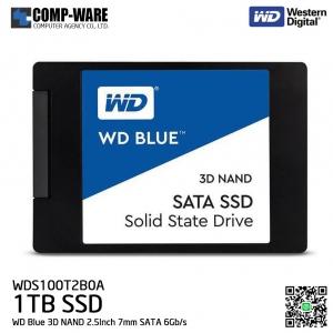 WD Blue 3D NAND 1TB PC SSD - SATA 6Gb/s 2.5Inch 7mm Solid State Drive - WDS100T2B0A