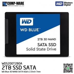 WD Blue 3D NAND 2TB PC SSD - SATA 6Gb/s 2.5Inch 7mm Solid State Drive - WDS200T2B0A