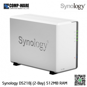 Synology DiskStation (2-Bay) DS218J (512MB RAM)