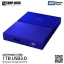 WD 1TB Blue My Passport Portable External Hard Drive - USB 3.0 - WDBYNN0010BBL-WESN thumbnail 3