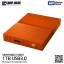 WD 1TB Orange My Passport Portable External Hard Drive - USB 3.0 - WDBYNN0010BOR-WESN thumbnail 2