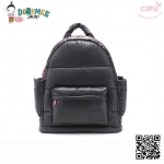 CiPU BACKPACK - BLACK PINK-(Size XL : W17 x L41x H48/ สายเป้ยาว 54-89 cm)