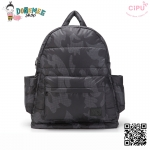 CiPU BACKPACK - CAMOUFLAGE-(Size L : W17 x L37x H43/ สายเป้ยาว 49-78cm)