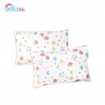Bamboo Pillow หมอนหนุนผลิตจากเนื้อผ้าเยื่อไผ่ by Grace Kids - ลายนกูกลูกโป่ง