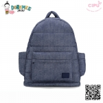 CiPU BACKPACK - DENIM BLUE-(Size XL : W17 x L41x H48/ สายเป้ยาว 54-89 cm)