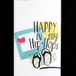 เคส iphone 7Plus, 8Plus ลาย HAPPY IN MY HIP HOP