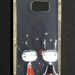 เคส Samsung S6 ลายการ์ตูน #2 TPU ใส ขอบโครเมี่ยมสีทอง
