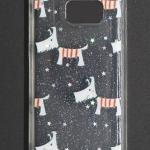 เคส TPU ใส Galaxy S7 พ่นกากเพชร