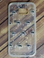 เคส TPU Galaxy S7 พ่นกากเพชร ลายร่มสีดำ