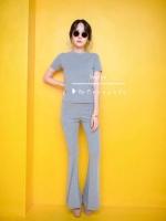 🎄new in 🎄 ชุด set 2 ชิ้นผ้าร่องยืดหยุ่นตามตัว กางเกงขาม้า เอวยางยืด เนื้อผ้าอย่างดีใส่สบาย งานขายดีมาก เป็นทรงยอดฮิต ใครๆก็ใส่กัน