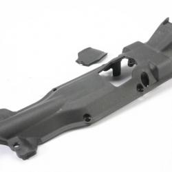 Skidplate, transmission, nylon (black)/ cover