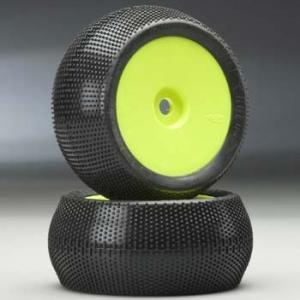 "Hole Shot LPR 3.7"" (M2) Dirst Race Pre-mounted Standard Offset Yellow Velocity 17mm (2-Pack)"