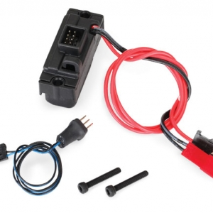 LED lights, power supply (regulated, 3V, 0.5-amp), TRX-4/ 3-in-1 wire harness